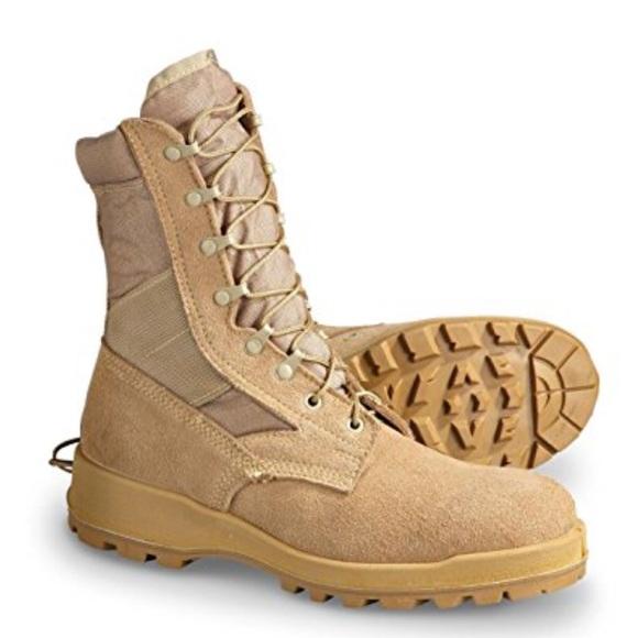 b872453baa1 Wellco US Military Desert Tan Men's Combat Boots